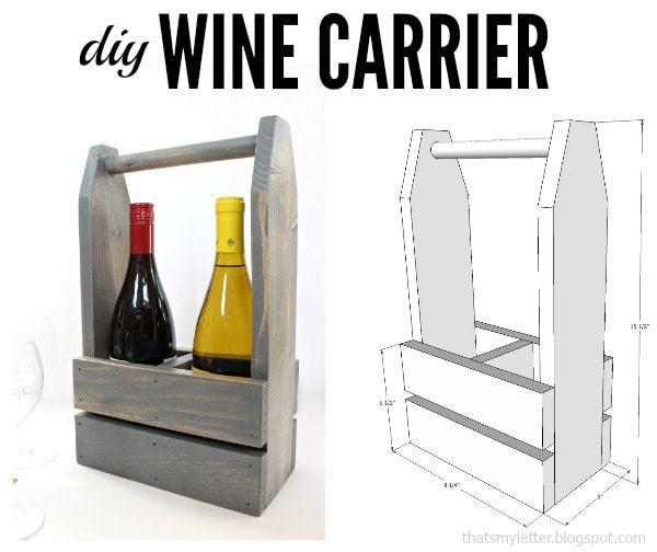 diy wine carrier free plans