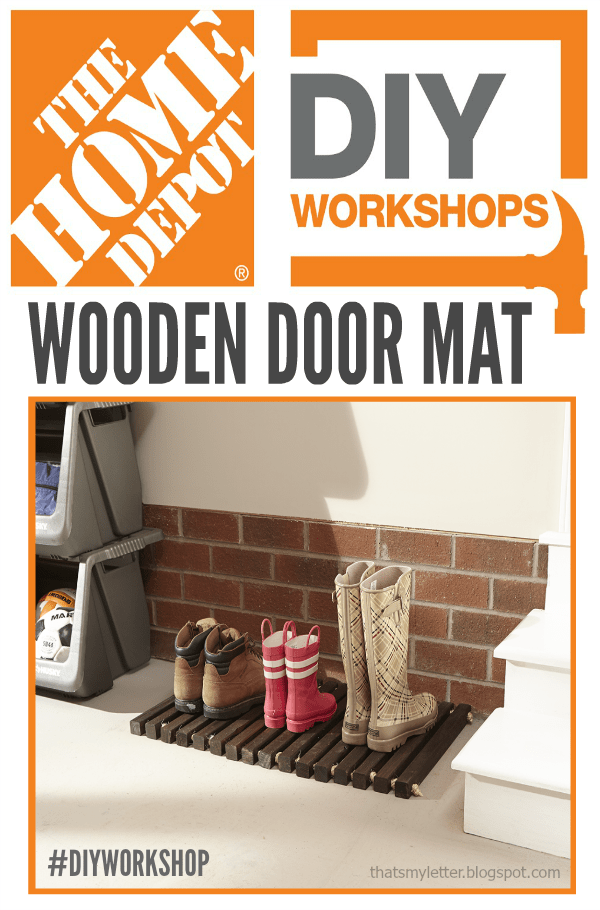 The Home Depot DIY Workshops wooden door mat