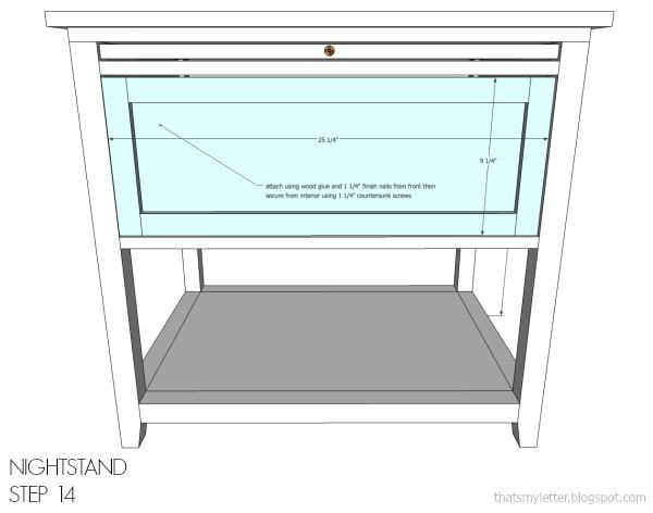 nightstand free plans step 14