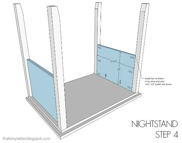 nightstand free plans step 4