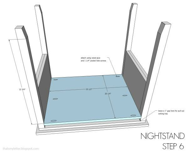 nightstand free plans step 6