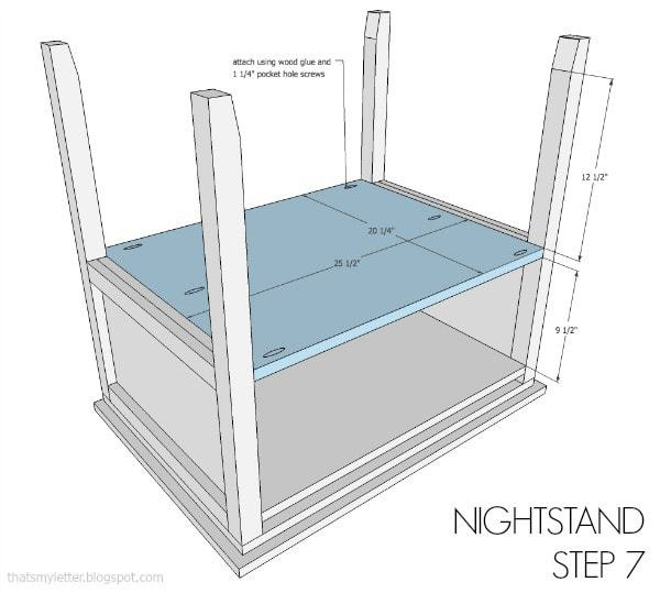 nightstand free plans step 7
