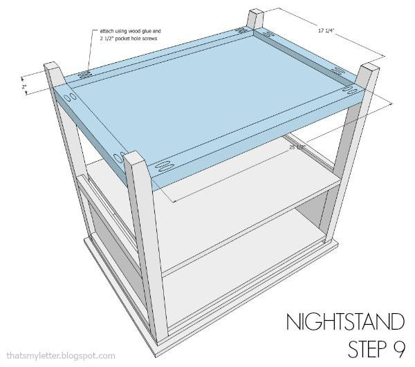 nightstand free plans step 9