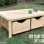 DIY Play Table (24″ x 36″) with Storage Bins Free Plans