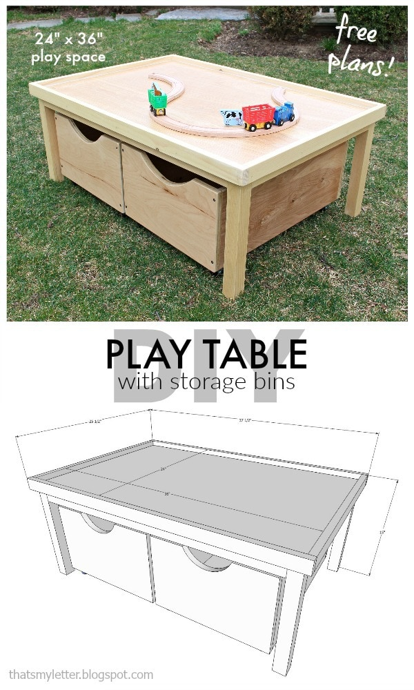 dit play table with storage bins free plans