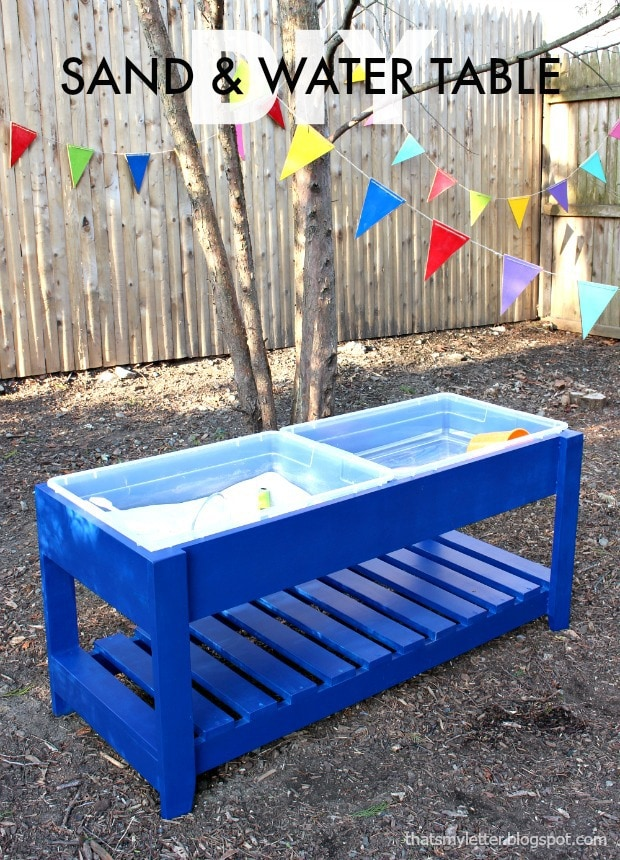 diy sand and water play table free plans