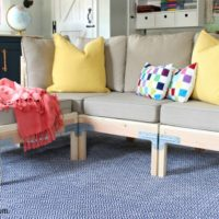 DIY Modular Sofa & Ottoman free plans