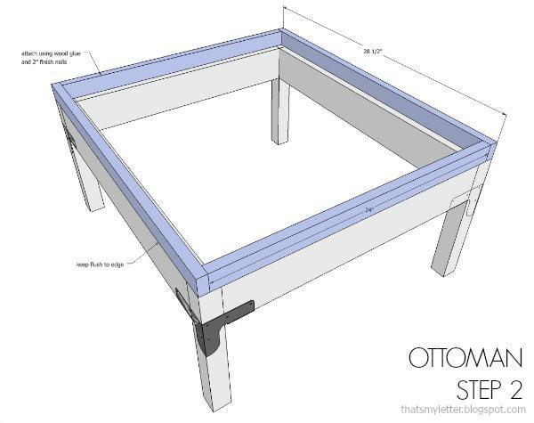 DIY modular sofa and ottoman free plans