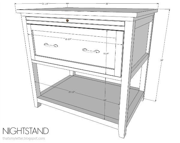 diy nightstand with pull-out ledge (free plans) - jaime costiglio Diy Nightstand Plans