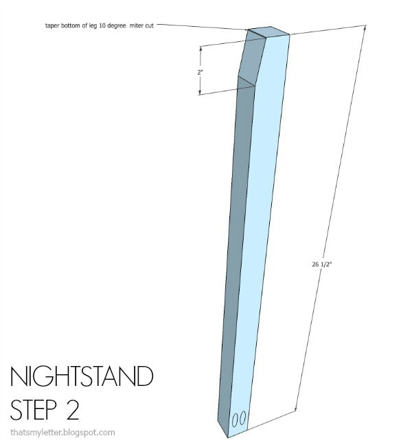 nightstand free plans step 2