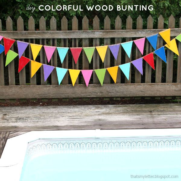 wood bunting for outdoor decor