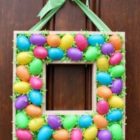 Plastic Egg & Scrap Wood Wreath