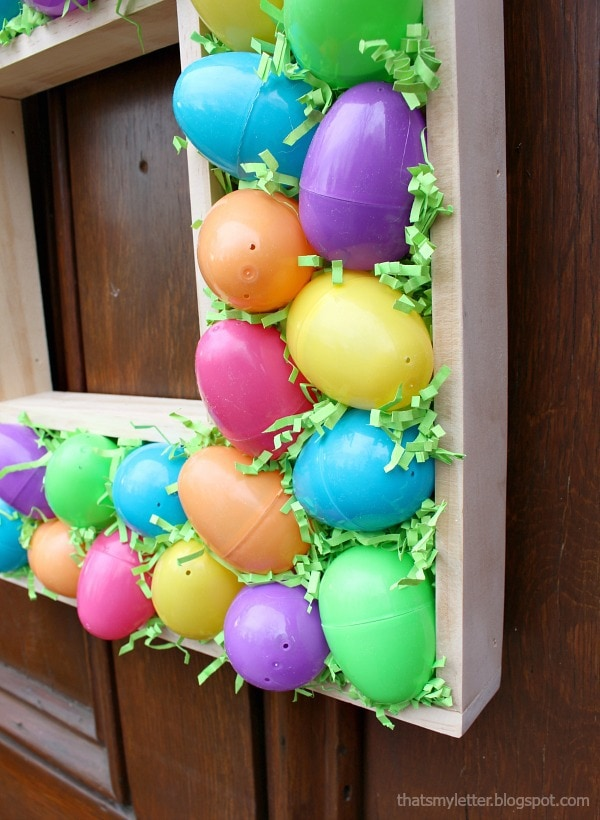plastic Easter egg wreath