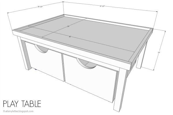 play table dimensions