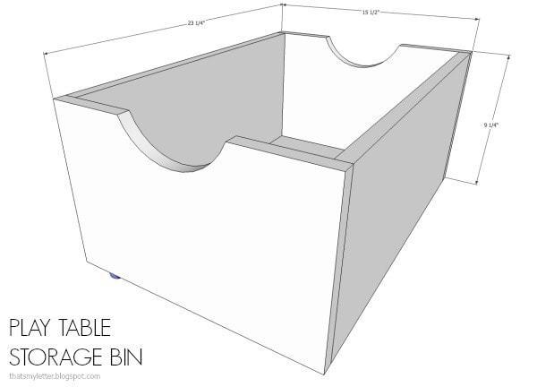 play table storage bin