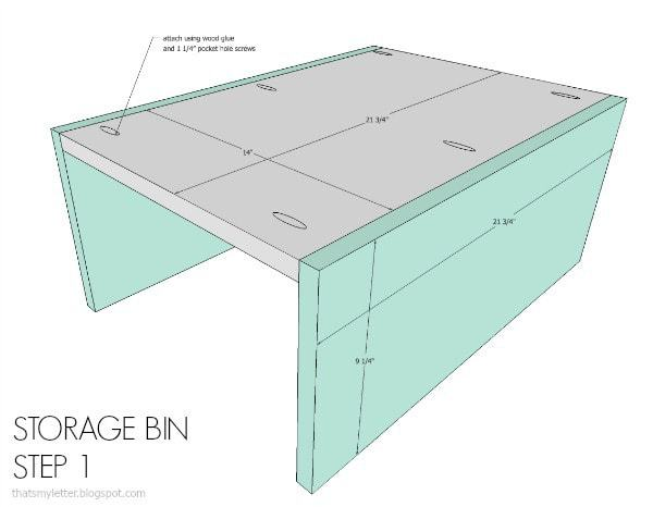 storage bin step 1