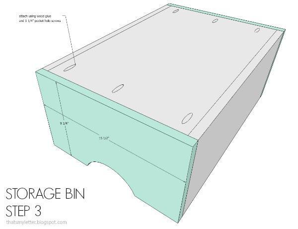 storage bin step 3