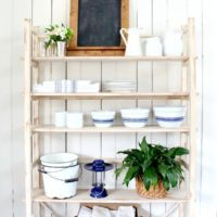 vintage replica shelving