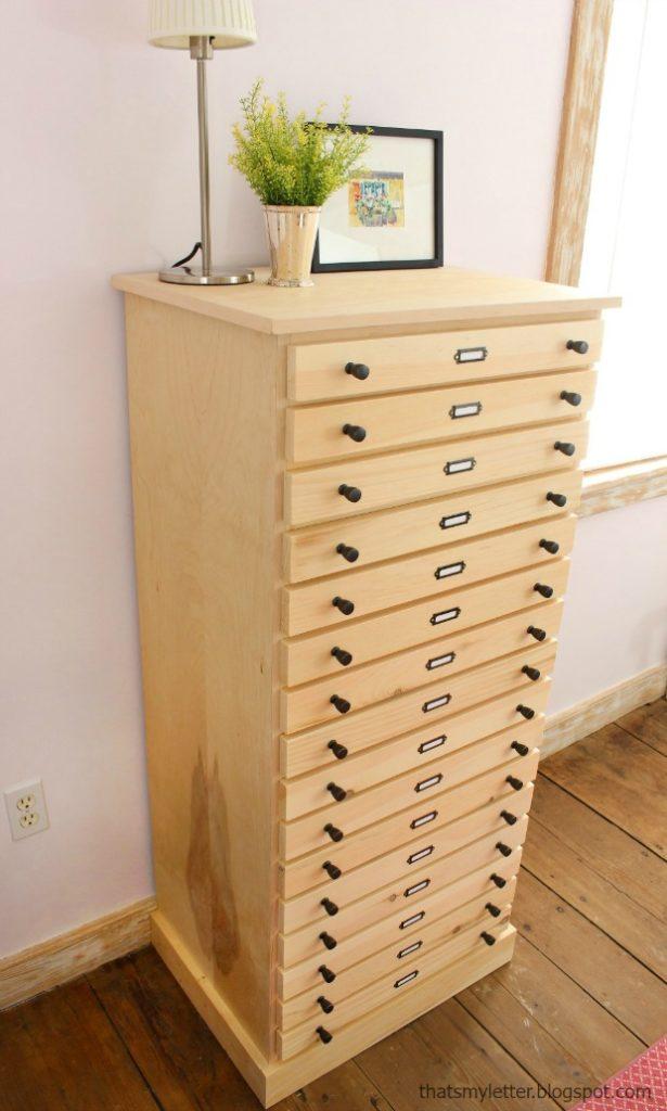 unfinished 16 drawer dresser