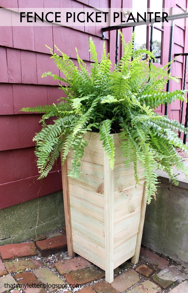 diy $10 fence picket planter