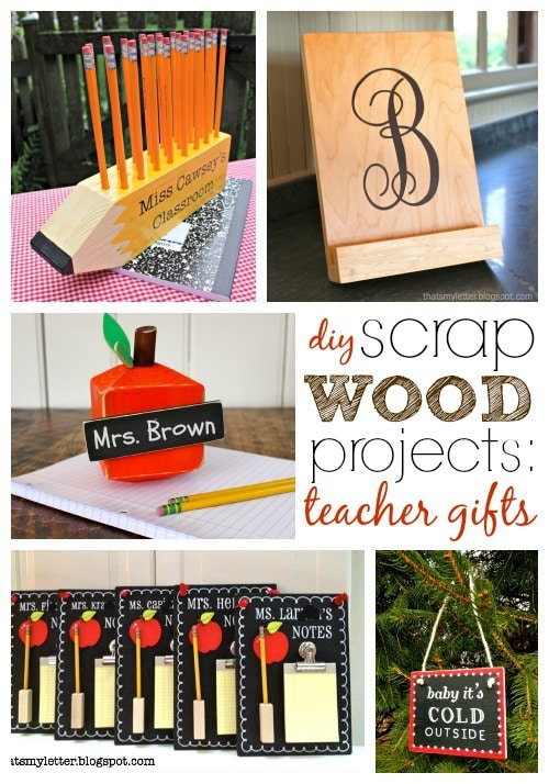 diy scrap wood teacher gift ideas