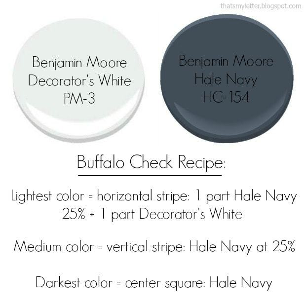 Benjamin Moore paint colors buffalo check recipe