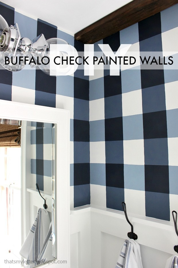 diy buffalo check painted walls
