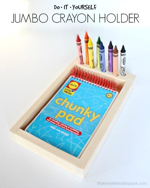 diy jumbo crayon holder