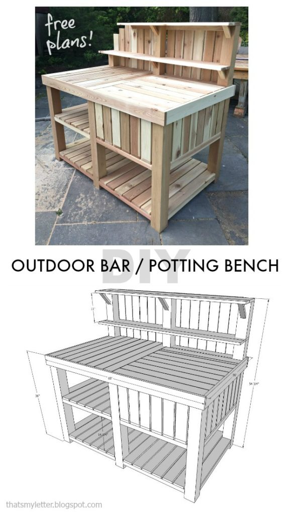 Outdoor Bar Potting Bench Jaime Costiglio