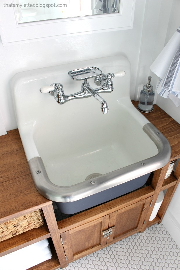 wall mounted sink trash to treasure