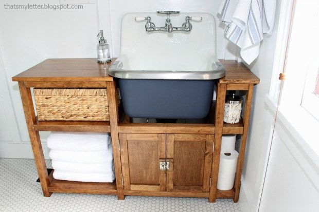 diy vanity surround with wall mounted sink