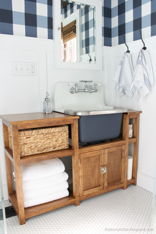 wall mounted sink master bathroom makeover