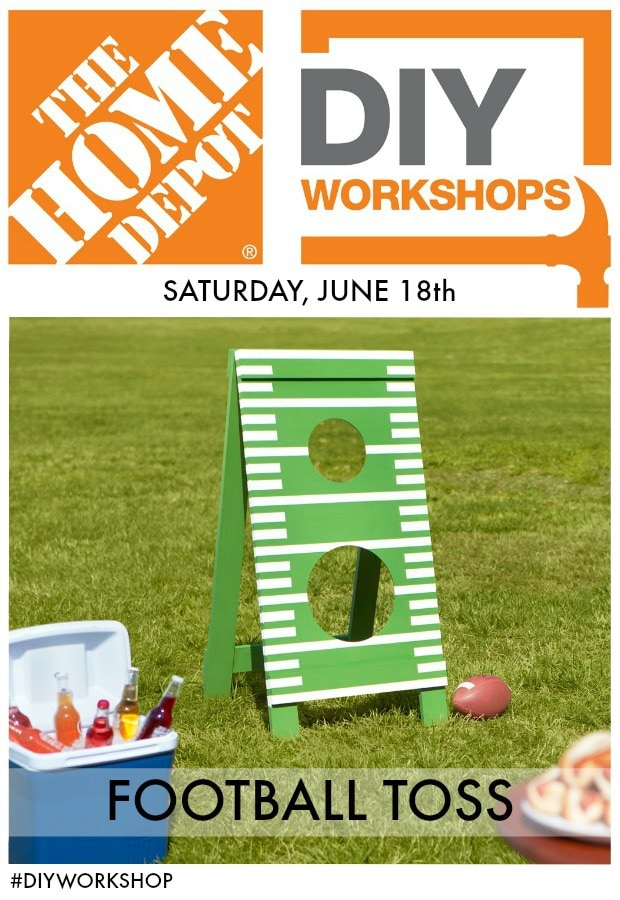 DIY Workshop football toss