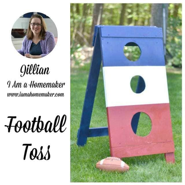 i am a homemaker football toss