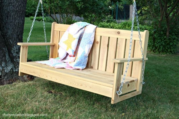 swinging bench with chains