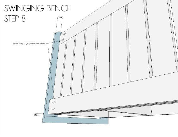 swinging bench step 8