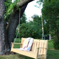 Cedar Swinging Bench Free Plans