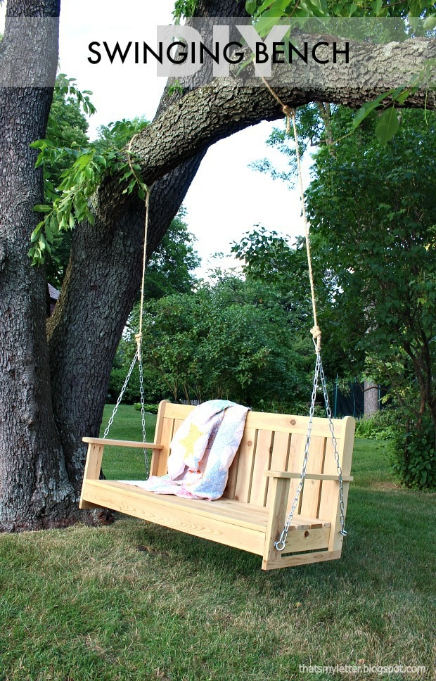 Cedar Swinging Bench Free Plans