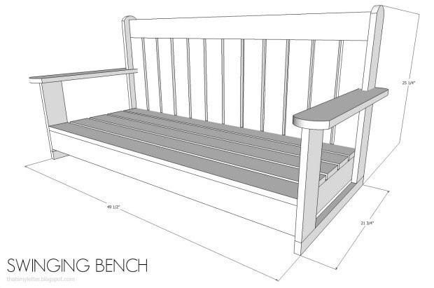 diy swinging bench free plans