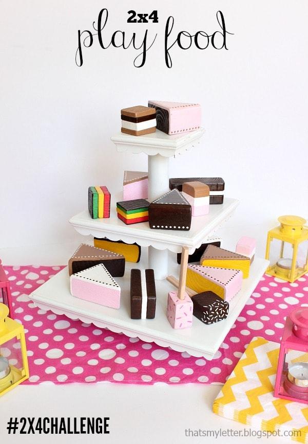 diy 2x4 play food desserts