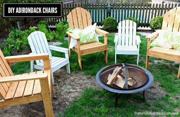 diy adirondack chairs adult and kids size