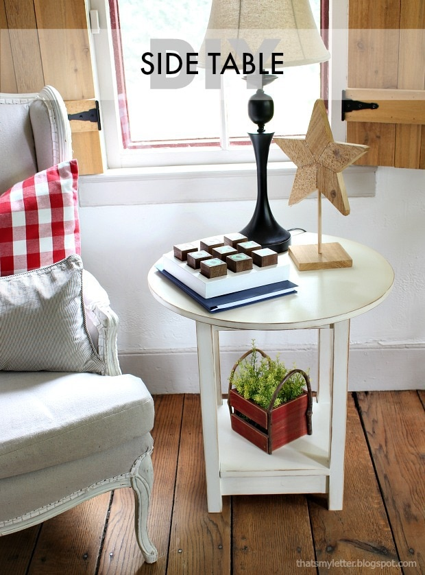 diy side table free plans