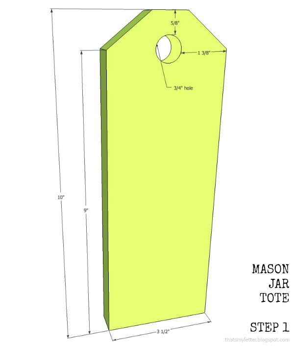 mason jar tote steps