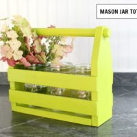 DIY Mason Jar Tote free plans