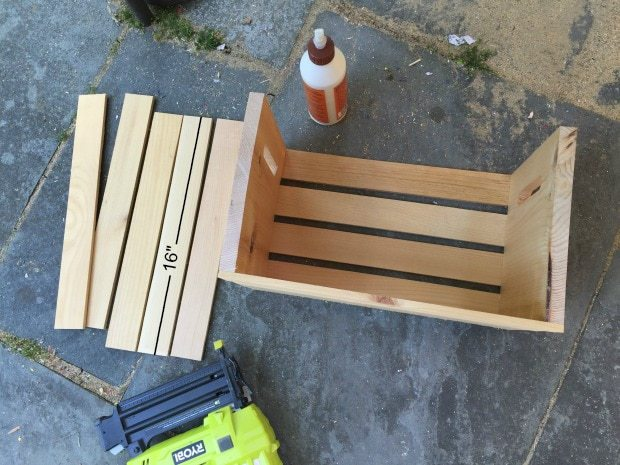 resizing of large crate to make pull out drawer