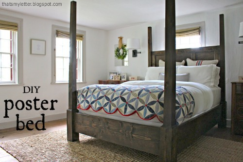diy poster bed free plans