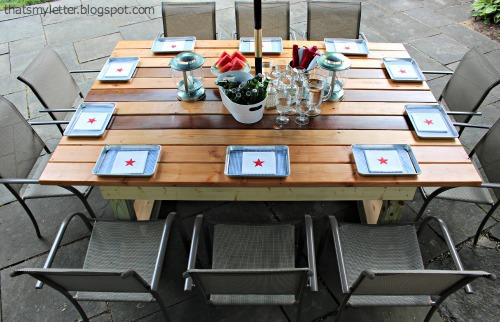 diy outdoor trestle style dining table