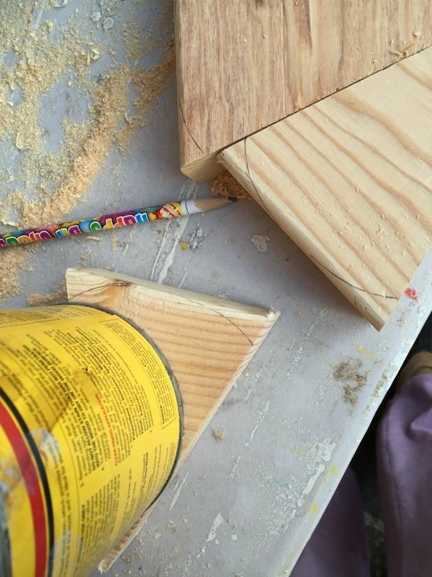 diy wood cake slices tutorial