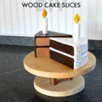 DIY Wood Cake Slices