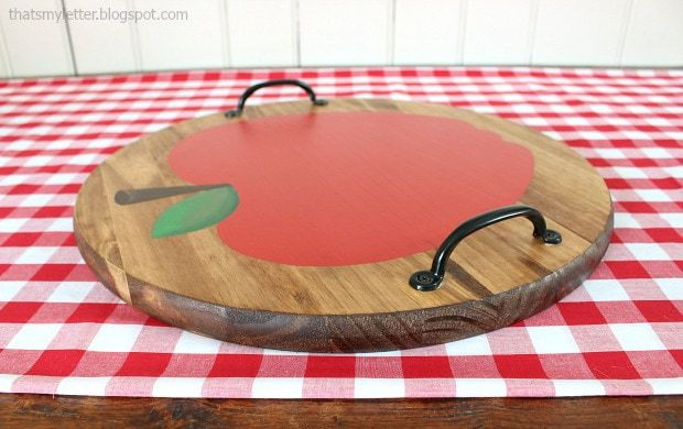 diy apple wood tray